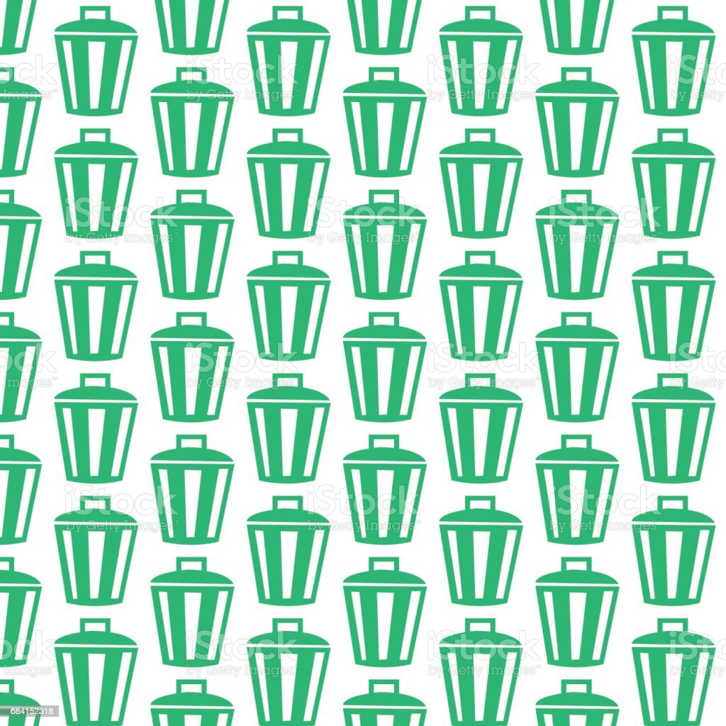 Bin icon pattern background bin icon pattern background - immagini vettoriali stock e altre immagini di affari finanza e industria royalty-free