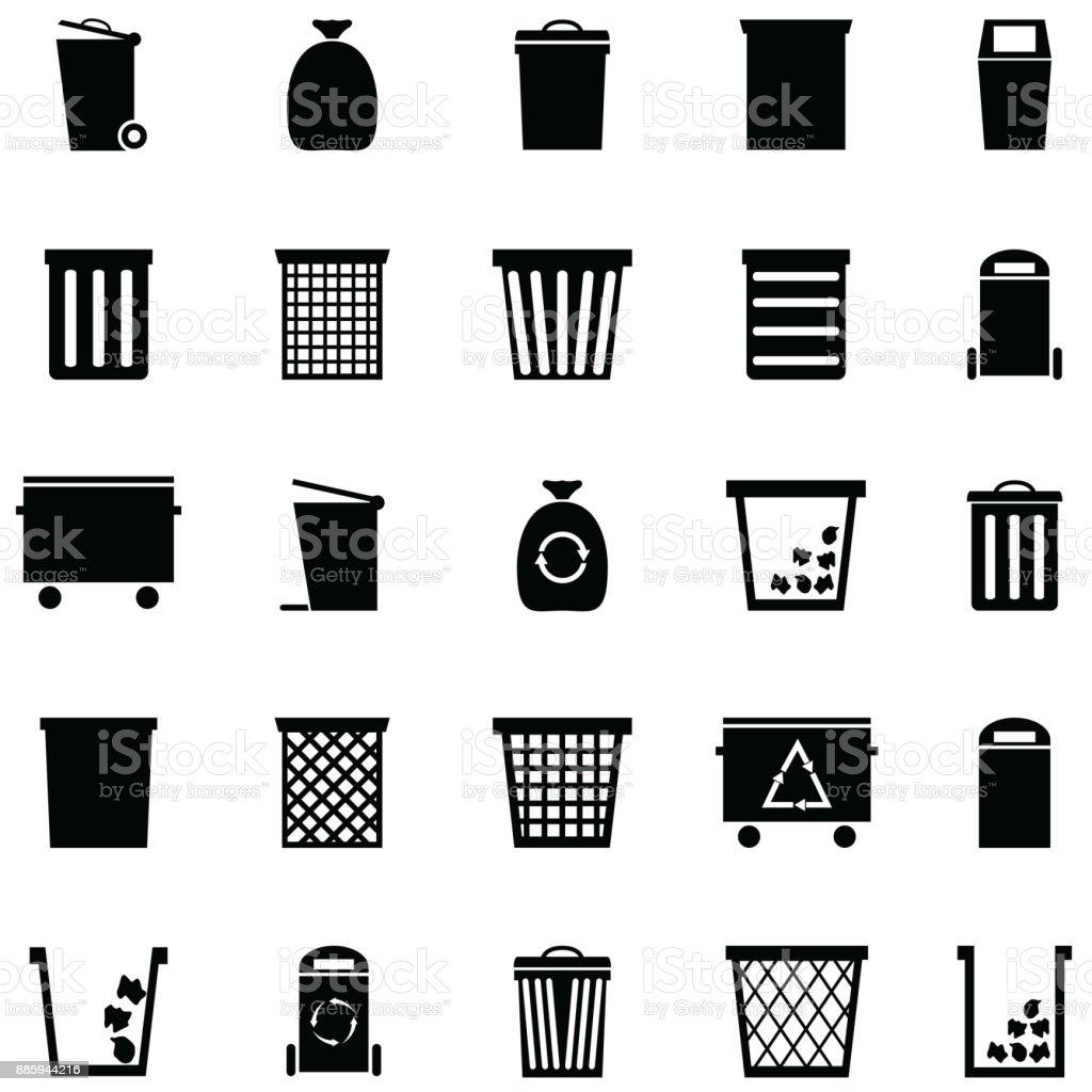 bin icon set - Royalty-free Basket stock vector