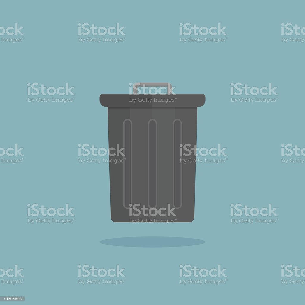 bin icon vector art illustration