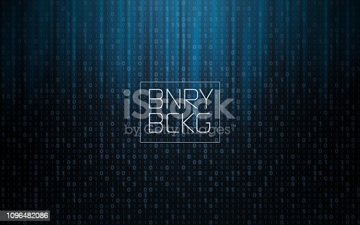 Binary Background - layered illustration, global colors used. Combination of 0 an 1 numbers