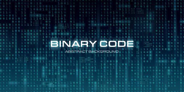 Binary Background vector art illustration