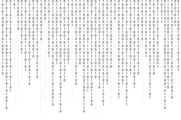 binary code background. falling, streaming binary code background. digital technology wallpaper - algorithm stock illustrations