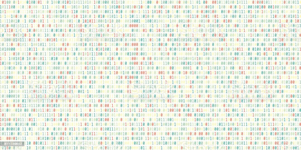 Binary code Background.Digital binary data and Secure Data Concept vector art illustration