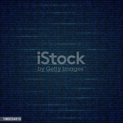 Binary code bright blue background. Programming code. Dark net concept. Digital web technology. DarkNet vector illustration. Easy to edit vector template for your design projects.
