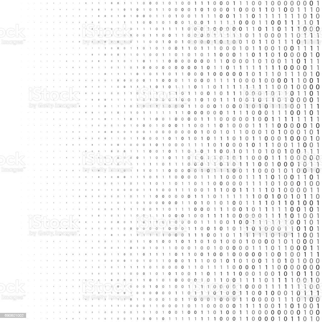 Binary code halftone background zero and one abstract symbols binary code halftone background zero and one abstract symbols coding programming concept vector illustration biocorpaavc Gallery