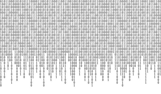 Binary code pattern Binary code seamless pattern. Computer background with 1 and 0 numbers. Data and technology. Black and white vector illustration. coding stock illustrations