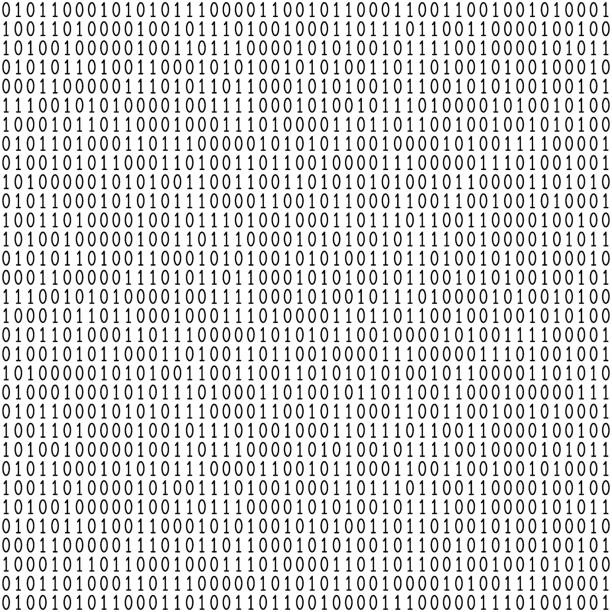 Binary code seamless pattern Binary code seamless pattern. Computer background with 1 and 0 numbers. Data and technology. Black and white vector illustration. binary code stock illustrations