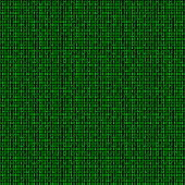 Binary code seamless pattern. Computer background with 1 and 0 numbers. Data and technology. Vector illustration.