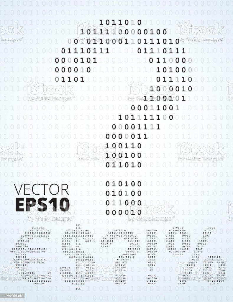 Binary Code Symbols Stock Vector Art More Images Of Alphabet