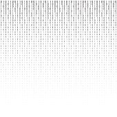 Binary code vector halftone texture.