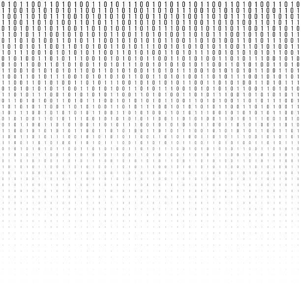 binary code vector halftone texture. - single object stock illustrations, clip art, cartoons, & icons