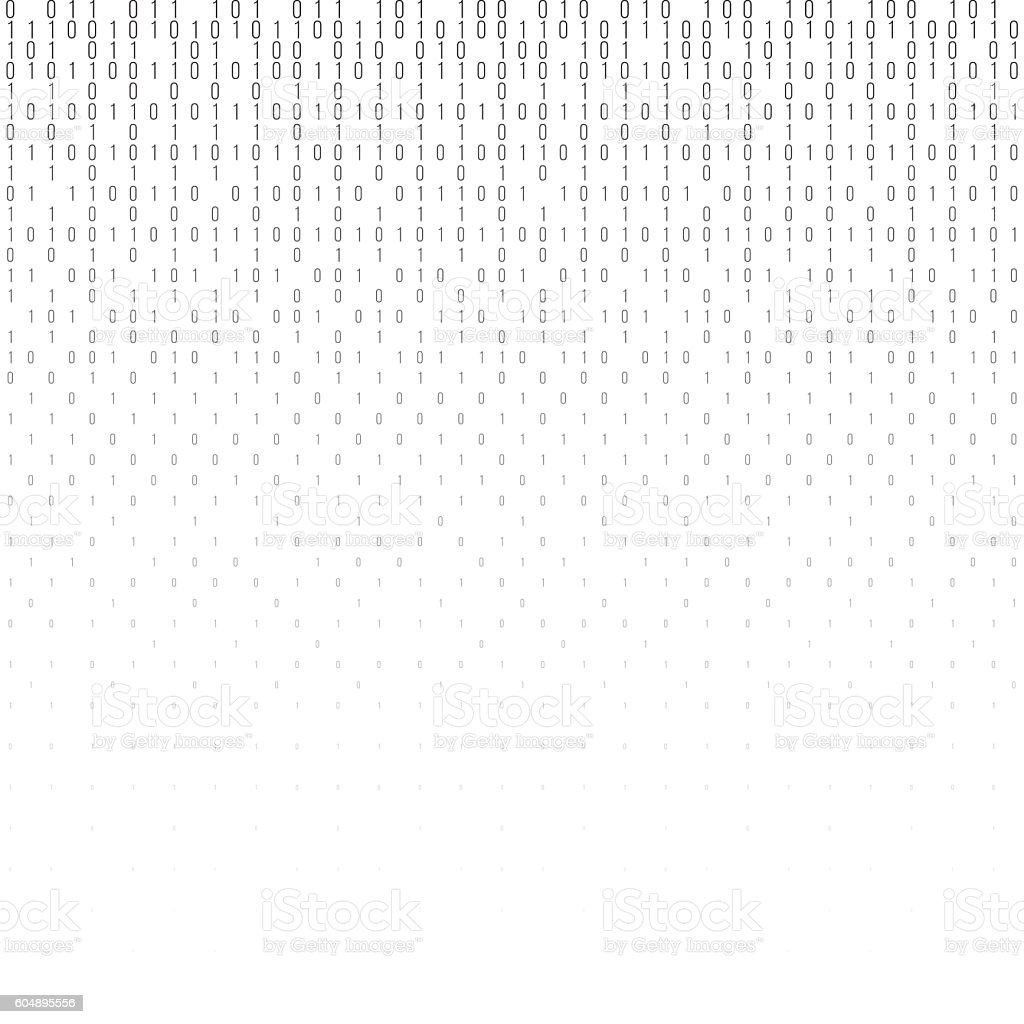Binary code vector halftone texture. vector art illustration