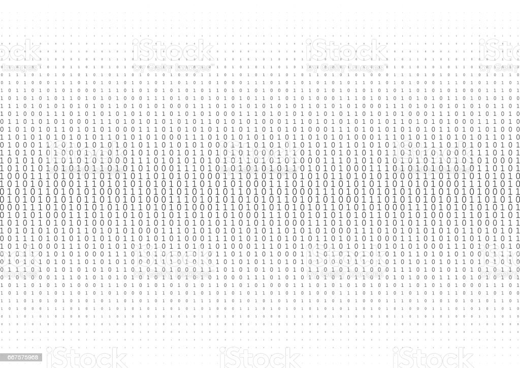 binary code vector art illustration