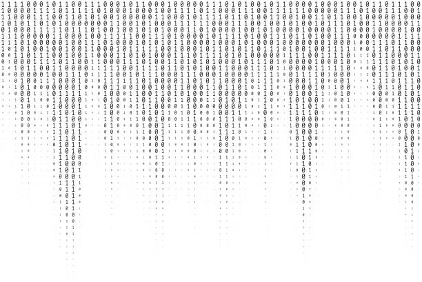 binary code vector texture - algorithm stock illustrations