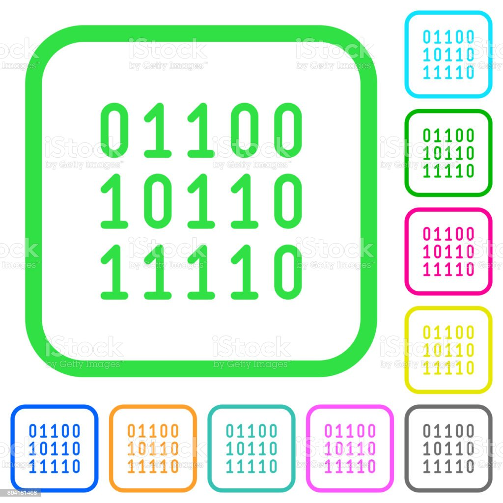 Binary code vivid colored flat icons icons royalty-free binary code vivid colored flat icons icons stock vector art & more images of bent