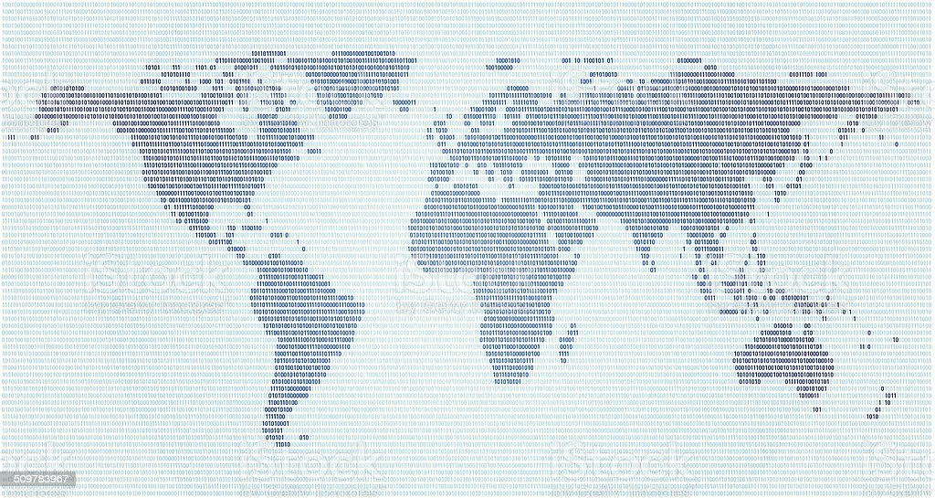 Binary code world map stock vector art more images of africa binary code world map royalty free binary code world map stock vector art amp gumiabroncs Image collections