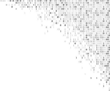 falling binary codes corner design template