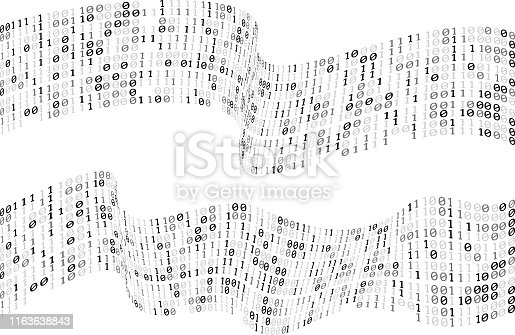 flowing binary codes flag