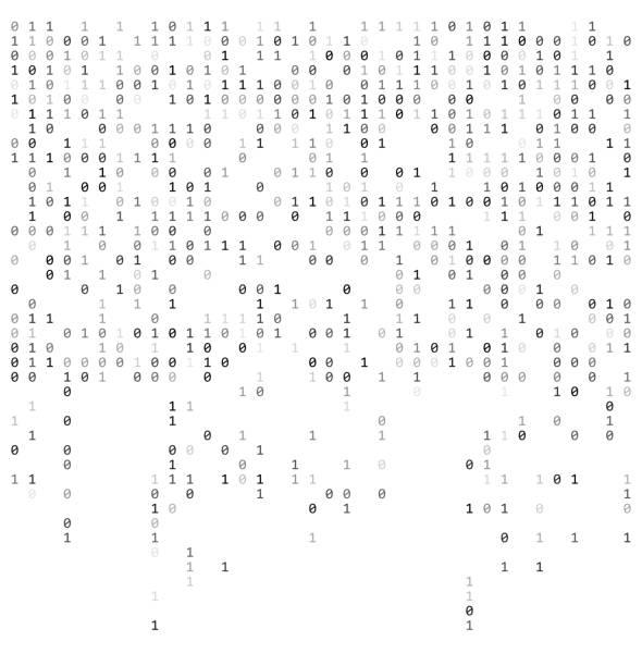 Binary falling numbers like matrix.  0,1 digits on white background template Binary falling numbers like matrix.  0,1 digits on white background template binary code stock illustrations