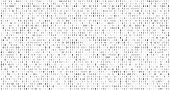 istock Binary matrix code. Computer data stream, digital security codes and gray coding information abstract vector background 1085940992