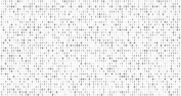 binary matrix code. computer data stream, digital security codes and gray coding information abstract vector background - algorithm stock illustrations