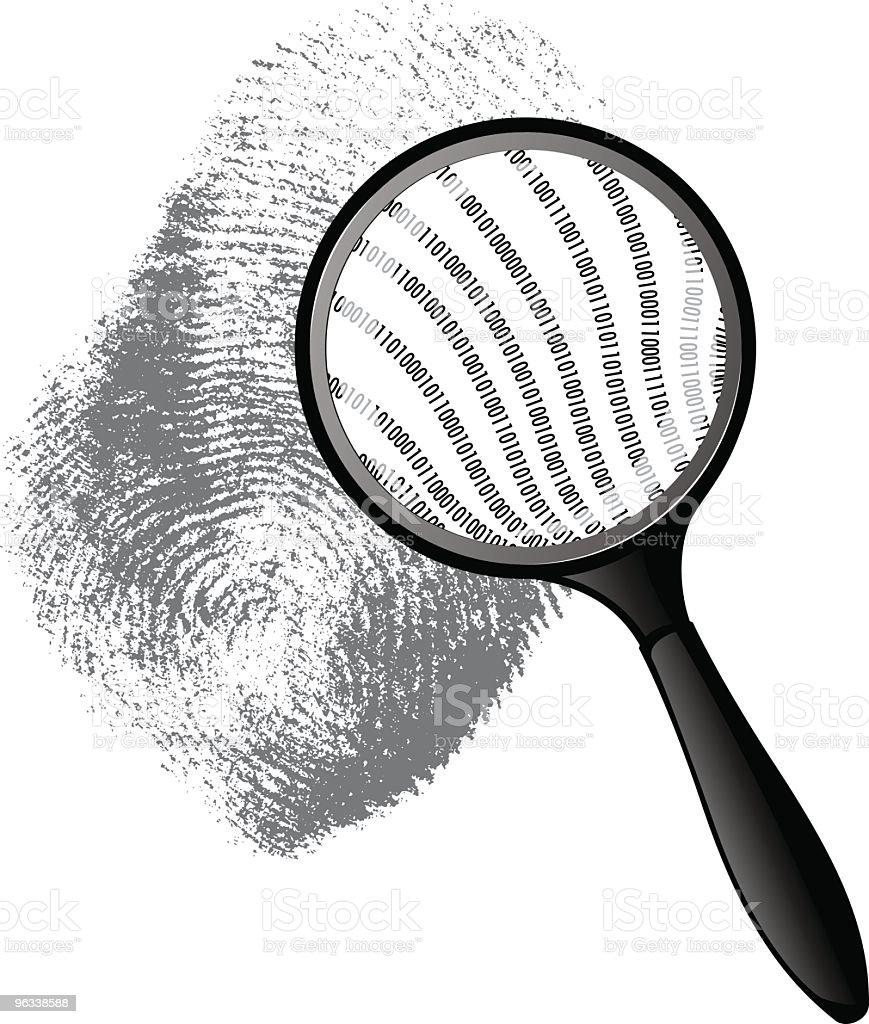 Binary Thumbprint royalty-free binary thumbprint stock vector art & more images of binary code