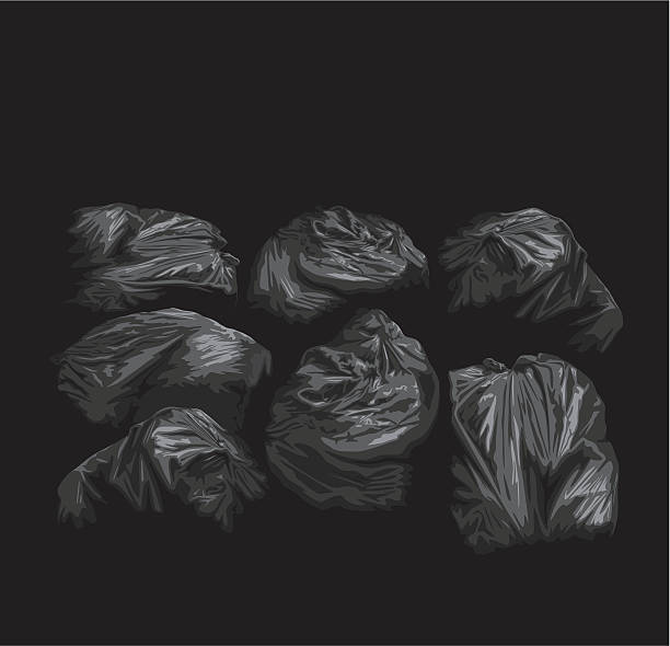 Binbags vector art illustration