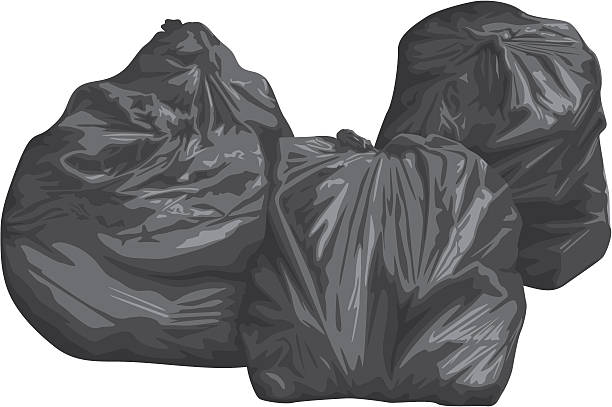 Binbags x3 vector art illustration