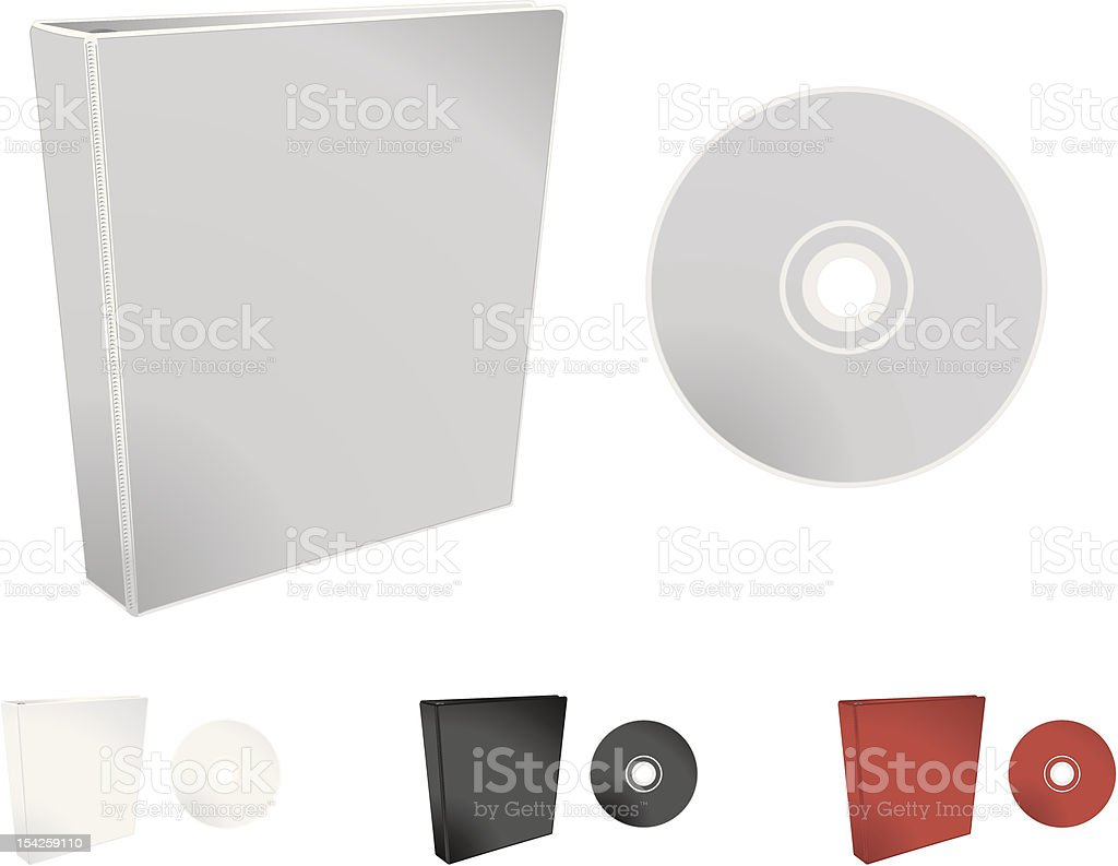 Binder and Disc Display royalty-free stock vector art