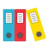Binders flat icon, business and folder, vector graphics, a colorful solid pattern on a white background, eps 10.