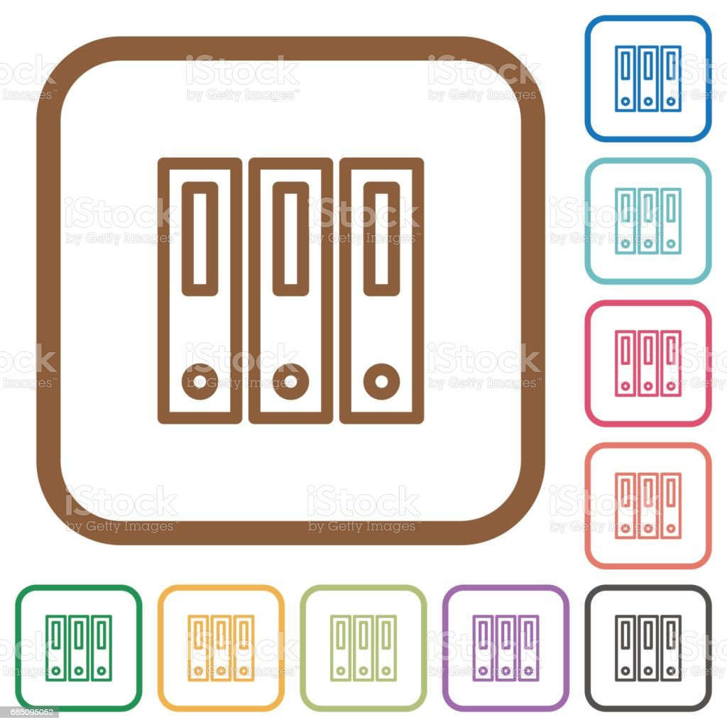 Binders simple icons royalty-free binders simple icons stock vector art & more images of arrangement