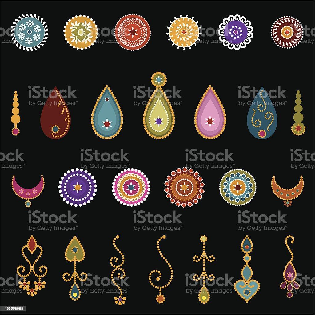 Bindi Designs (Vector) royalty-free stock vector art