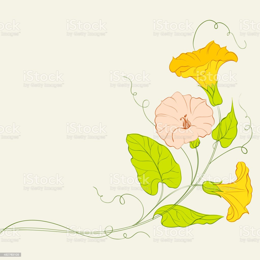 Bindweed frame for your text. royalty-free stock vector art