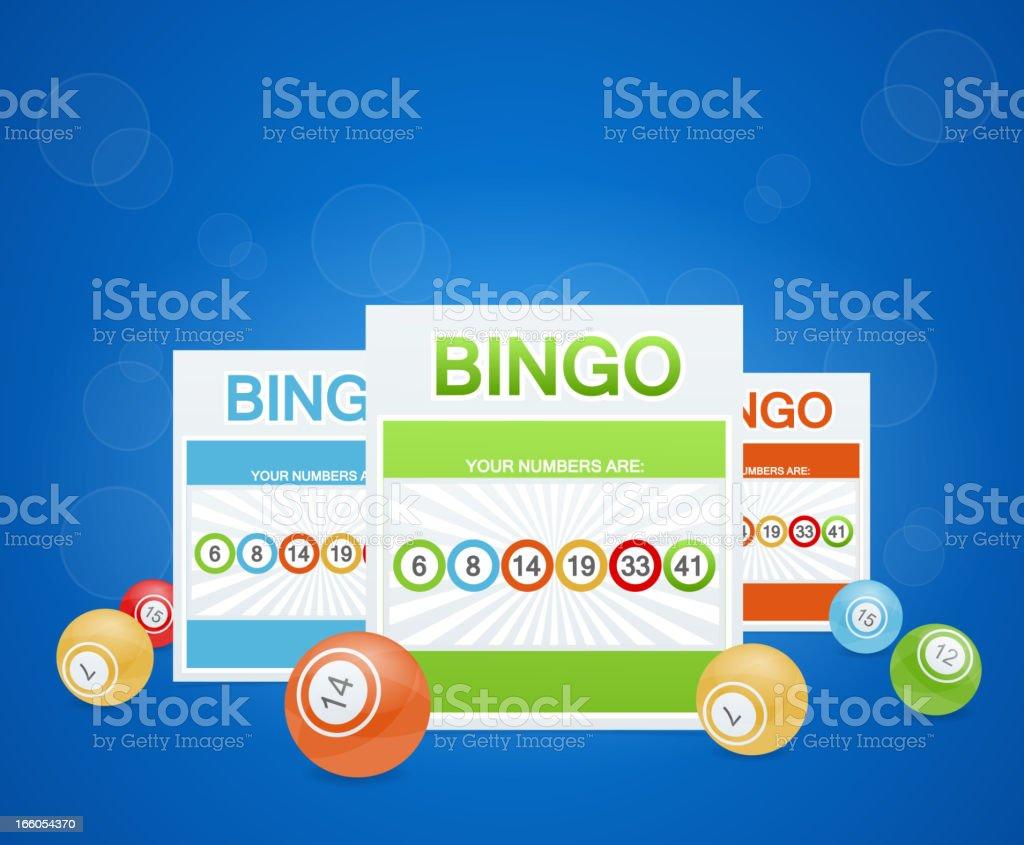 Bingo de fondo - ilustración de arte vectorial