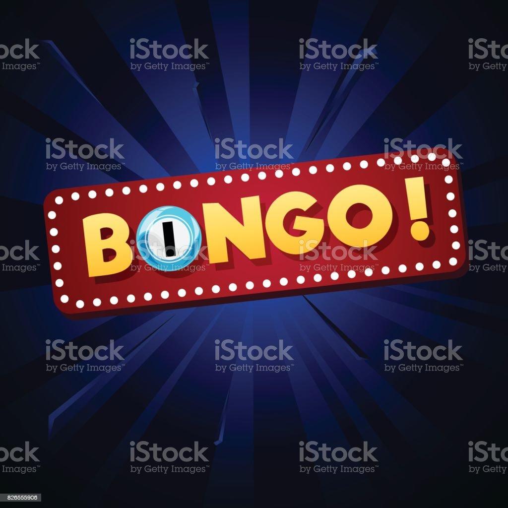 Fundo de Bingo - ilustração de arte em vetor