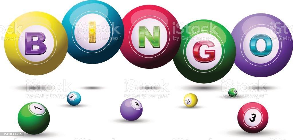Fundo de bolas de bingo - ilustração de arte em vetor