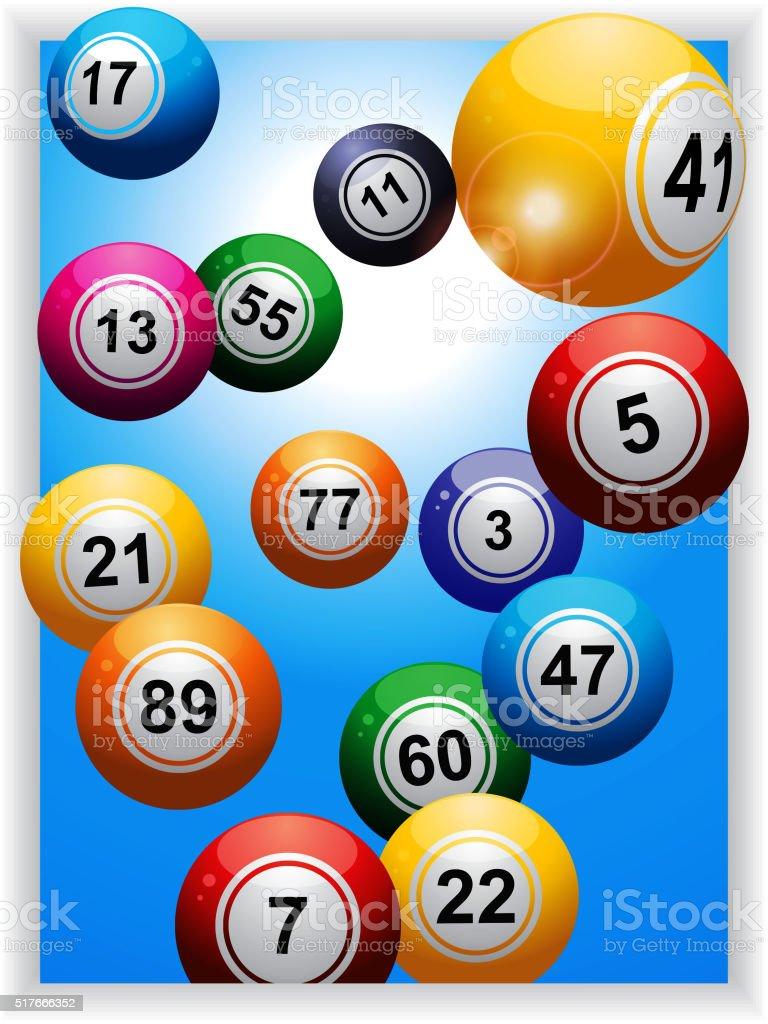Bingo bolas de retrato de tela - ilustração de arte em vetor
