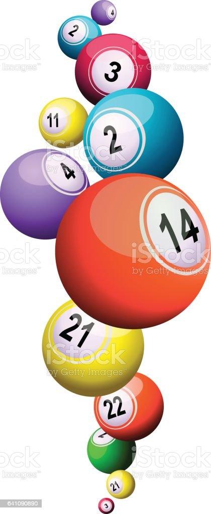 Bingo pelotas - ilustración de arte vectorial