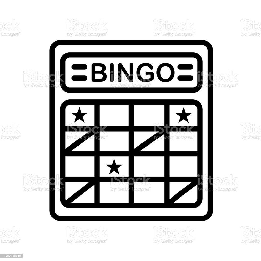 icono de la tarjeta de Bingo aislado sobre fondo blanco - ilustración de arte vectorial