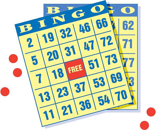Cartões de Bingo - ilustração de arte em vetor