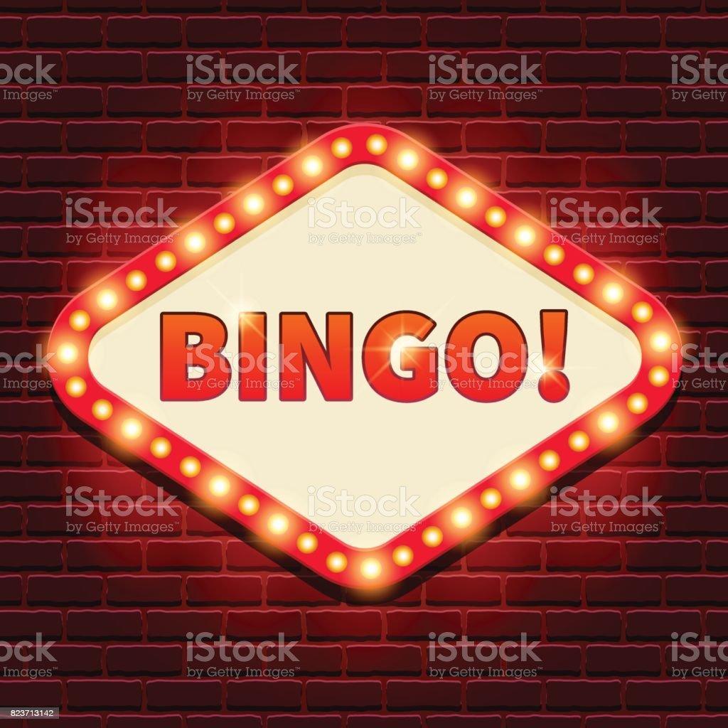 ¡Bingo! Casino, Fondo de cartelera de lotto - ilustración de arte vectorial