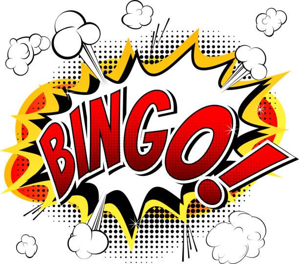 Bingo – estilo quadrinhos palavra. - ilustração de arte em vetor