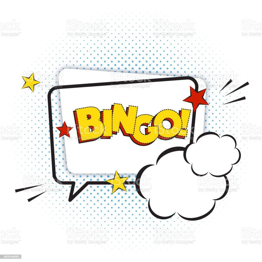 Texto cómic Bingo aislado sobre fondo blanco, ilustración vectorial. - ilustración de arte vectorial