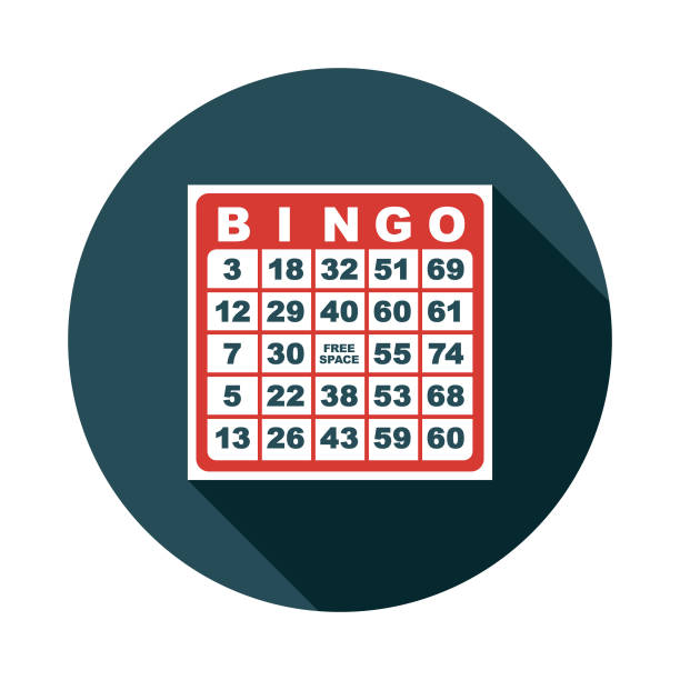 Bingo Game Flat Design Icon A flat design icon with a long shadow. File is built in the CMYK color space for optimal printing. Color swatches are global so it's easy to change colors across the document. bingo stock illustrations