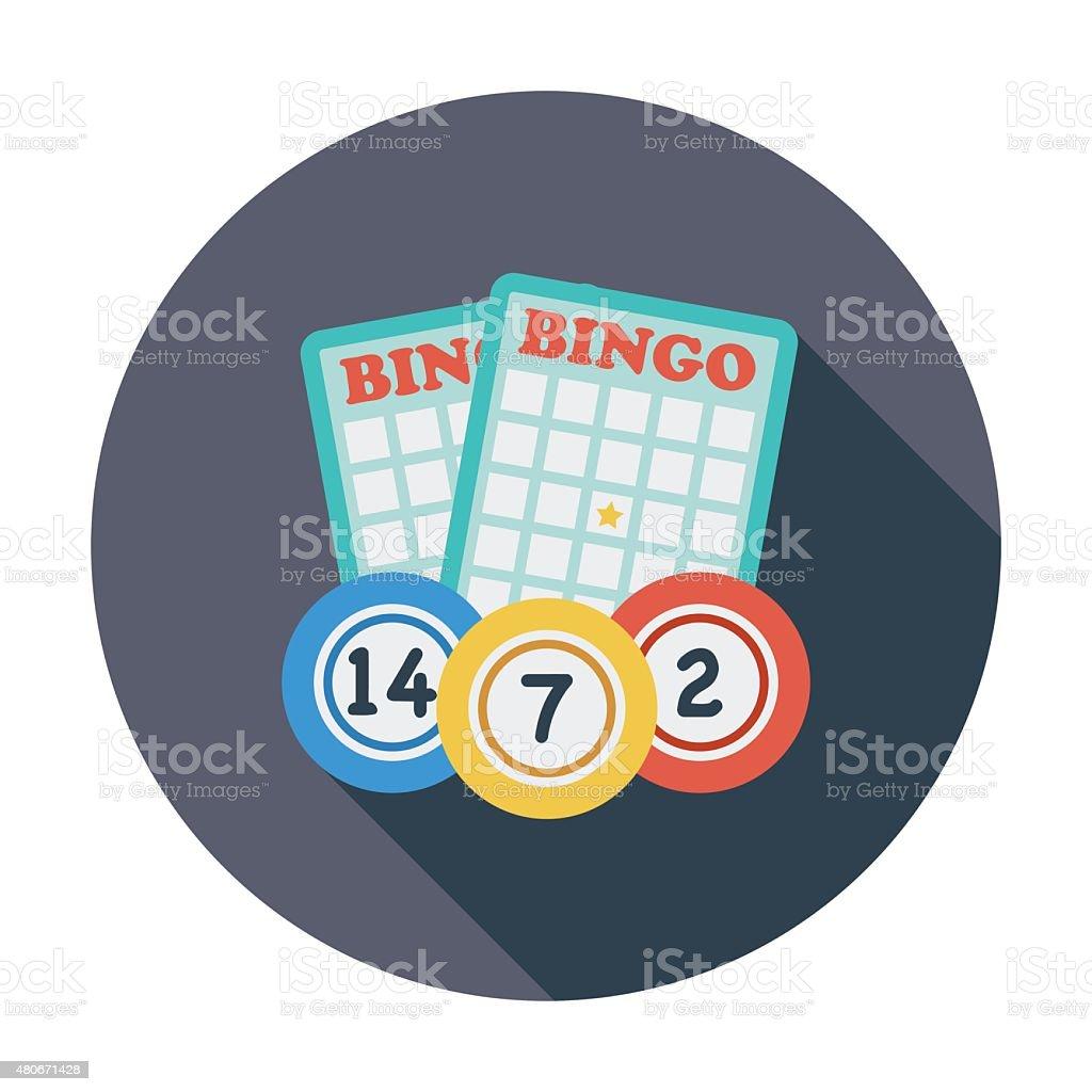 Bingo icon vector art illustration