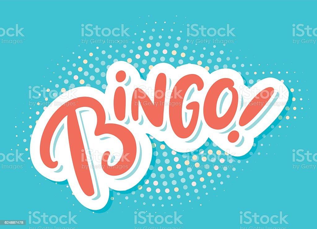 Bingo! Lettering. - ilustração de arte em vetor