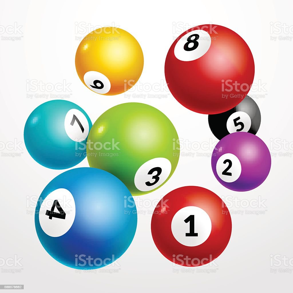 Bingo lottery balls numbers background. Lottery game balls. Lotto winner ベクターアートイラスト