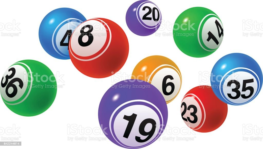 Bingo Lottery Balls vector art illustration