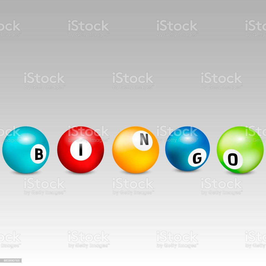 Bingo lottery balls. Vector lottery number balls set colorful. Vector illustration. vector art illustration