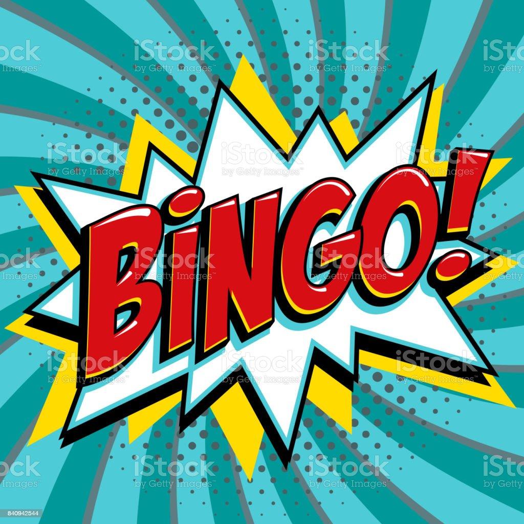 Cartel de la lotería del bingo. Fondo del juego de lotería. De estilo pop-art comics bang forma sobre un fondo rojo trenzado - ilustración de arte vectorial